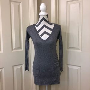 White House Black Market Gray Tunic